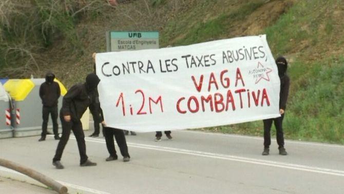 Estudiants en vaga a l'Autònoma