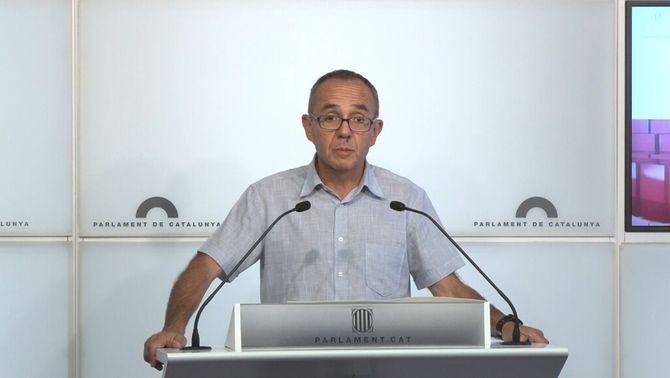 El portaveu de CSQEP, Joan Coscubiela, aquest dimarts al Parlament