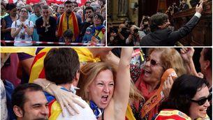Expectació, declaració i celebració, el 27-O en les fotos de Reuters