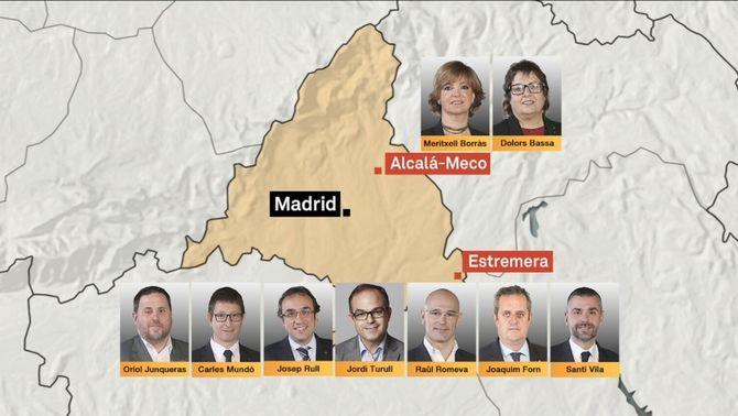 La jutge envia a la presó Junqueras i vuit consellers del govern Puigdemont