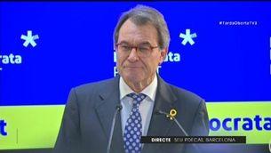 """Artur Mas: """"Seguiré implicat en la política, però no a primera línia"""""""