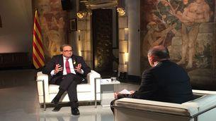 Quim Torra, president de la Generalitat, a l'entrevista a TV3 i Catalunya Ràdio
