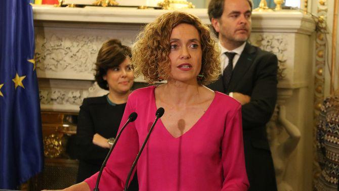 Pla mitjà de la ministra de Política Territorial i Funció Pública, Meritxell Batet, a la seva presa de possessió al Ministeri (horitzontal) 07/06/2018