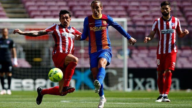 El Barça no pot guanyar l'Atlètic de Madrid i s'allunya de la Lliga (0-0)