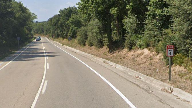 El punt quilomètric de l'accident (GoogleMaps)