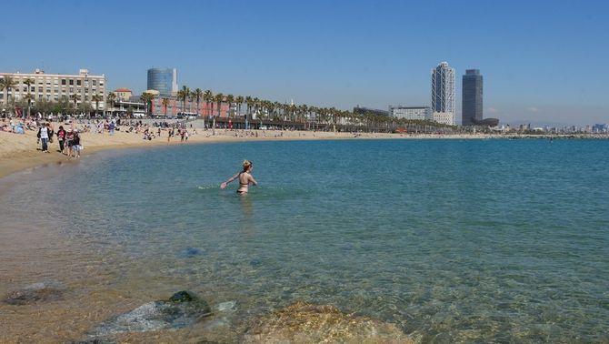 Setmana Santa amb ambient càlid però amb aigua freda