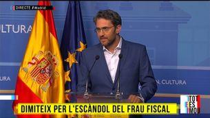 La dimissió de Màxim Huerta