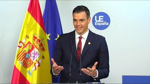 El president espanyol Pedro Sánchez avui a Brussel·les