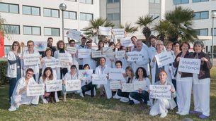 Foto de grup dels especialistes de l'HUB en Malalties Minoritàries. (Horitzontal)