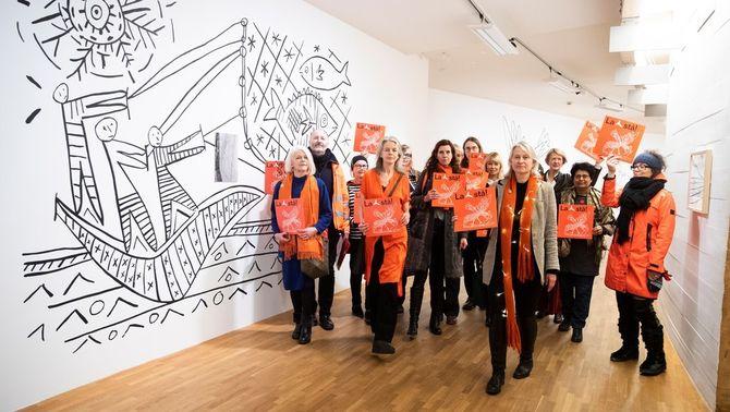 Protestes per salvar els murals de Picasso d'un edifici a Oslo que es vol enderrocar