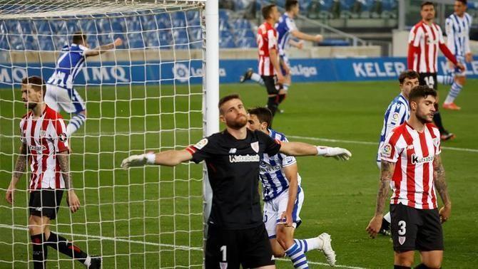La Reial Societat salva un empat agònic i impedeix la revenja de l'Athletic (1-1)