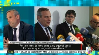 """Imatge de:Josep Lluís Alay: """"Durant tres anys, han instal·lat la por en els Mossos, i ara el president Puigdemont no té escorta"""""""