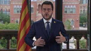 Pere Aragonès demana unir esforços davant la negociació amb el govern espanyol