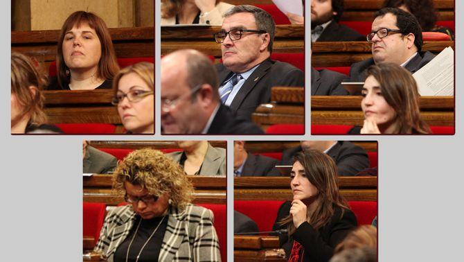 Els cinc diputats del PSC que es van saltar la disciplina de vot