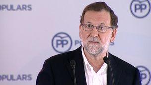 El president del govern en funcions, Mariano Rajoy