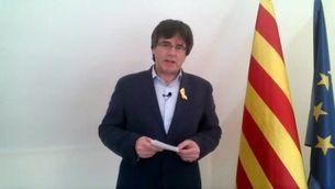 """Puigdemont denuncia que """"un jutge tingui més poder que dos milions de catalans"""""""