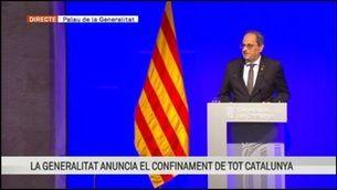 """Quim Torra: """"Cal confinar tot Catalunya"""""""
