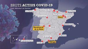 Més de 40 brots de Covid-19 a Espanya des del final de l'estat d'alarma
