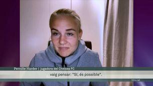 """Pernille Harder, estrella del Chelsea: """"Sempre he estat molt fan d'Alèxia"""""""