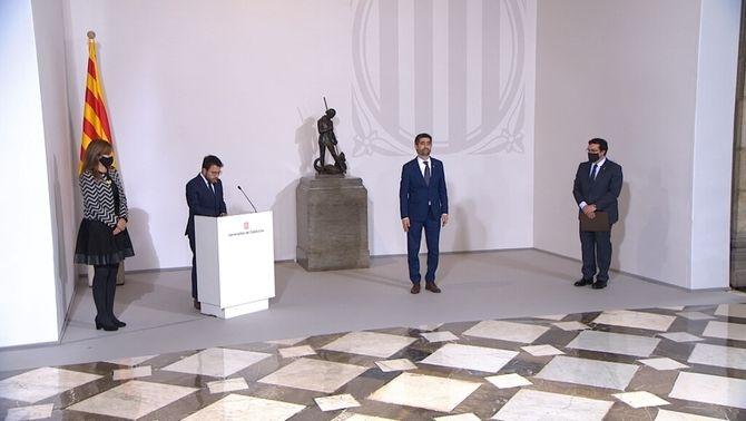 Els 14 consellers del govern Aragonès prenen possessió aquest matí