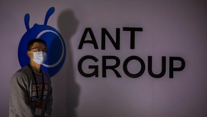 Expositor d'Ant Group en una fira de big data a Guiyang