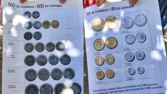 Fulletó que entreguen a les portes de la seu del Banc d'Espanya a Barcelona
