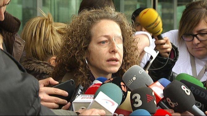 Ester Quintana ratifica al jutge que va ser un projectil dels Mossos el que li va impactar a l'ull
