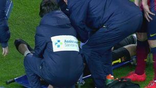 El moment de la lesió de Valdés