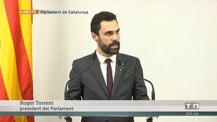 Roger Torrent proposa Jordi Turull com a candidat a la presidència de la Generalitat
