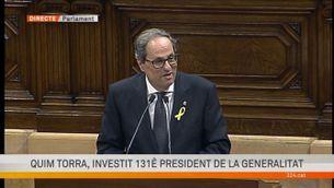 """Quim Torra, ja investit president: """"Visca Catalunya lliure!"""""""