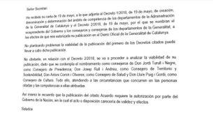 Rajoy bloqueja la publicació del decret del nou govern mentre n'estudia la viabilitat