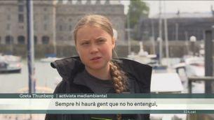 Diaris alemanys qüestionen la sostenibilitat del viatge de Greta Thunberg