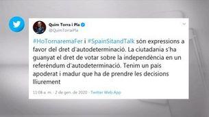 Torra i Aragonès es reuneixen per parlar del pacte ERC-PSOE i rebaixar la tensió