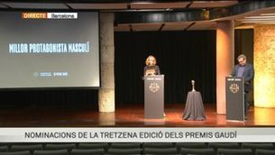 Aina Clotet i Sergi López donen a conèixer les nominacions a la XIII edició dels Premis Gaudí
