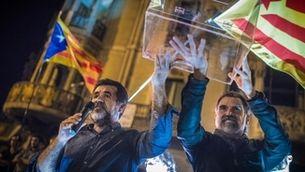 Primer 20S amb Jordi Sànchez i Jordi Cuixart fora de la presó