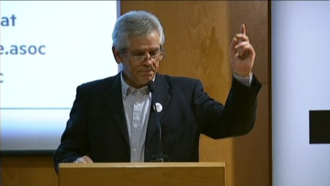 El president de l'entitat independentista Súmate, Eduardo Reyes.