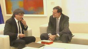 Puigdemont l'endemà de la reunió amb Rajoy
