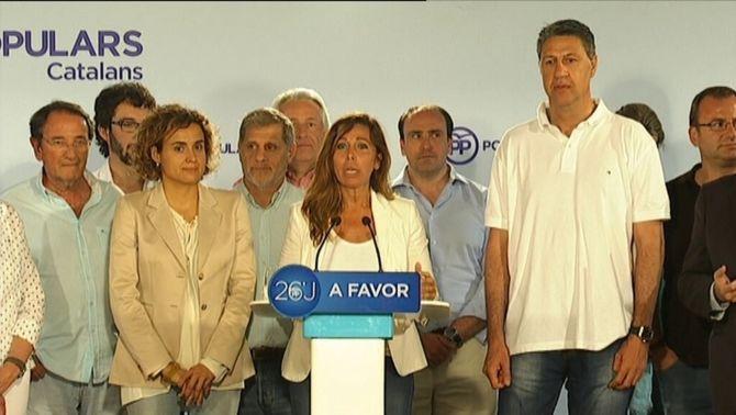 """Sánchez-Camacho: """"Som l'únic partit que ha pujat a Catalunya en percentatge, vots i escons"""""""