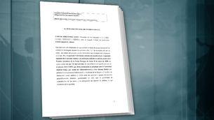 El document al qual ha tingut accés TV3