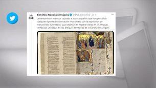 La Biblioteca Nacional d'Espanya demana perdó per no diferenciar el català del valencià