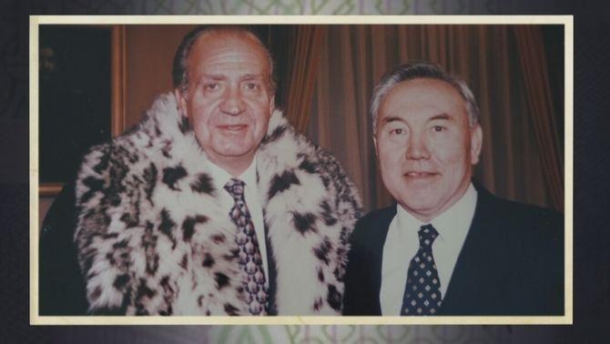 Joan Carles i el president del Kazakstan, Nursultan Nazarbayev