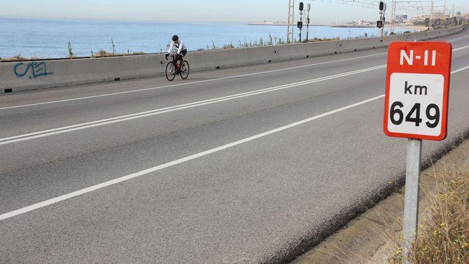 Mor el conductor d'un ciclomotor en un accident a l'N-2 a Mataró