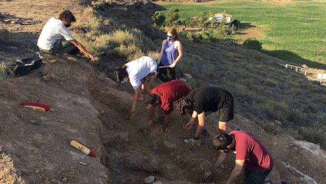 Pla obert de l'excavació al jaciment ibèric de Gebut, a Soses, el 5 de juliol del 2021. (Horitzontal)