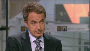 """Zapatero veu """"insuficient"""" l'alto el foc d'ETA"""