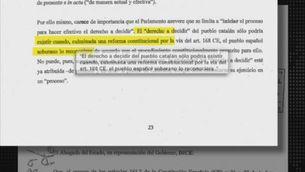 Els detalls del recurs de l'Estat contra resolució del Parlament