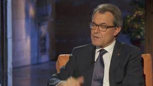 Entrevista al president de la Generalitat Artur Mas