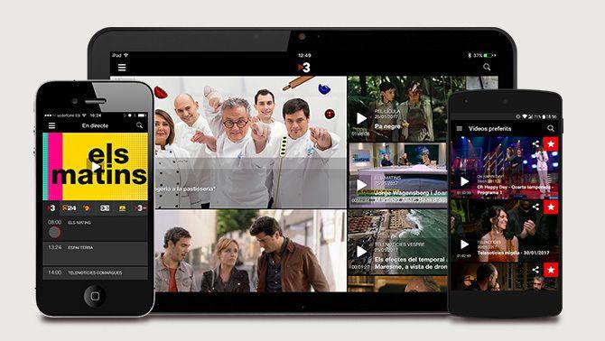 TV3 i Catalunya Ràdio renoven les seves apps