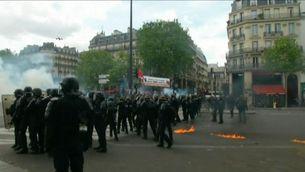 Incidents després d'una manifestació de l'1 de Maig