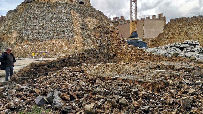 El cap de fibló que va afectar la zona ha ensorrat la capella gòtica del Castell de Montsoriu. Imatge cedida aquest 24 d'octubre del 2019 (Hori…