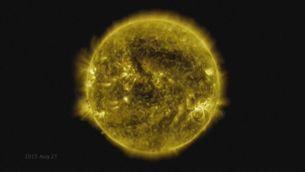 Deu anys d'activitat solar en un minut